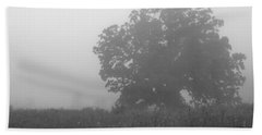 Oak In The Fog Beach Towel