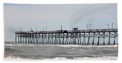 Oak Island Beach Pier Beach Towel