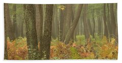 Oak Openings Fog Forest Beach Towel