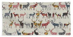 Oatmeal Spice Deer Beach Towel