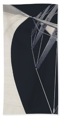 Obsession Sails 9 Black And White Beach Towel