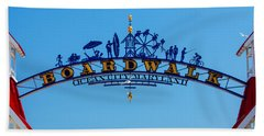 Ocean City Boardwalk Arch Beach Towel