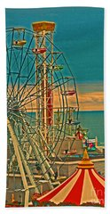 Ocean City Castaway Cove Ferris Wheel Beach Towel