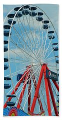 Beach Towel featuring the photograph Ocean City Md Ferris Wheel by Emmy Marie Vickers