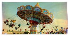 Ocean City Nj Carousel Swing Time Beach Towel