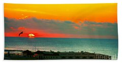 Ocean City Sunrise Over Music Pier Beach Towel