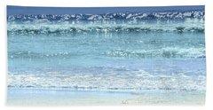 Ocean Colors Abstract Beach Sheet by Elena Elisseeva