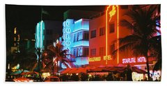 Ocean Drive Film Image Beach Towel