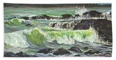 Ocean Emotion Lajolla Cove Beach Towel