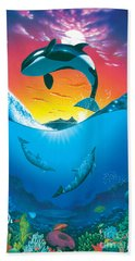 Ocean Freedom Beach Sheet by MGL Studio - Chris Hiett