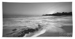 Ocean Glow Bw Beach Towel