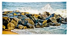 Ocean Jetty Beach Sheet by Colleen Kammerer