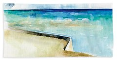 Ocean Pier In Key West Florida Beach Towel