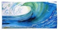 Ocean Spray Beach Sheet by Carlin Blahnik