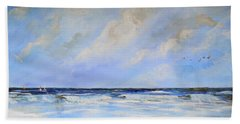 Beach Towel featuring the painting Ocean View by Dorothy Maier