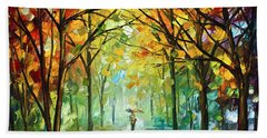 October In The Forest Beach Towel