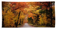 October Road Beach Towel