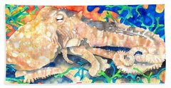 Octopus Delight Beach Towel