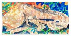 Octopus Delight Beach Sheet