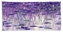 Beach Towel featuring the photograph Ode To Monet In Purple by Chris Anderson