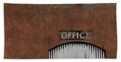Office Door - Architecture Beach Towel by Steven Milner
