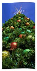 Oh Christmas Tree Beach Towel by Kathy Churchman