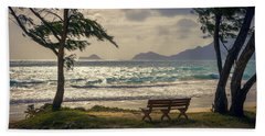 Beach Towel featuring the photograph Oahu Sunrise by Steven Sparks