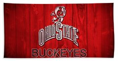 Ohio State Buckeyes Barn Door Vignette Beach Towel