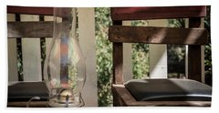 Oil Lamp 2 Beach Towel by Gandz Photography