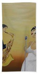 Oil Msc 001  Beach Towel by Mario Sergio Calzi