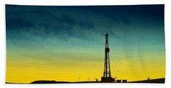 Oil Rig In The Spring Beach Towel