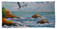 Oiseau Solitaire Beach Towel