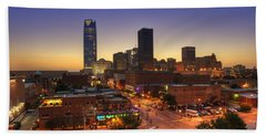 Oklahoma City Nights Beach Towel