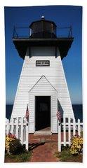 Beach Towel featuring the photograph Olcott Ny Lighthouse - Replica by John Freidenberg