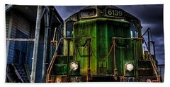 Old 6139 Locomotive Beach Sheet by Thom Zehrfeld