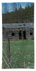Beach Towel featuring the photograph Old Abandoned Homestead Cabin Art Prints by Valerie Garner