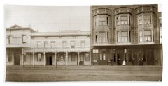Old And New Salinas Hotel Was On West Market Street Circa 1885 Beach Towel
