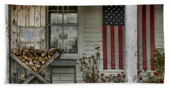 Old Apple Orchard Porch Beach Towel