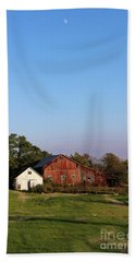 Old Barn At Sunset Beach Towel