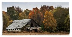 Beach Towel featuring the photograph Old Barn by Debbie Green