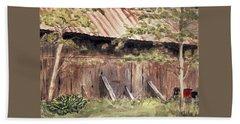 Old Barn Door Beach Towel by Christine Lathrop
