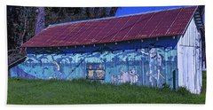 Old Barn Mural Beach Towel