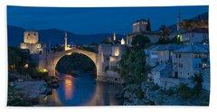 Old Bridge In Mostar Beach Towel
