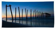 Old Broken 59th Street Pier Beach Towel
