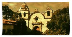 Old Carmel Mission - Watercolor Beach Sheet