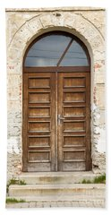 Beach Sheet featuring the photograph Old Church Door by Les Palenik