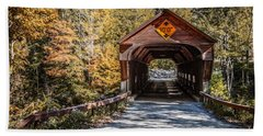 Beach Towel featuring the photograph Old Covered Bridge Vermont by Edward Fielding