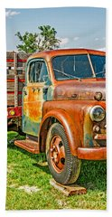 Beach Towel featuring the photograph Old Dually by Sue Smith