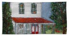 Old Farm House Beach Towel by Anna Ruzsan