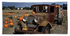 Beach Towel featuring the photograph Old Farm Truck by Michael Gordon